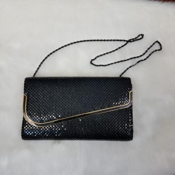 Vintage Handbags - Vintage black evening bag